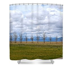 Wyoming-dwyer Junction Shower Curtain