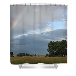 Wyoming Rainbow Shower Curtain by Diane Bohna