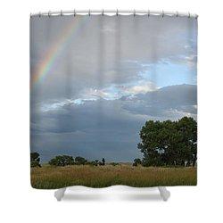 Wyoming Rainbow Shower Curtain