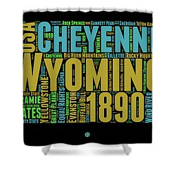 Wyoming Word Cloud Map 1 Shower Curtain