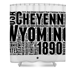 Wyoming Word Cloud Map 2 Shower Curtain