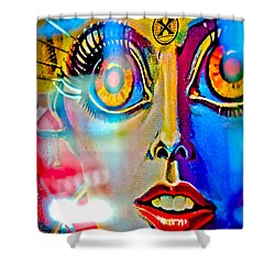 X Is For Xenon - Pinball Shower Curtain