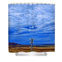 X Marks The Spot Shower Curtain by Aliceann Carlton