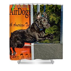 Shower Curtain featuring the photograph X-treme Airdogs 5 by Tyra OBryant