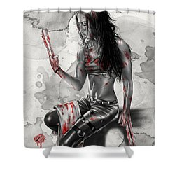 X23 Shower Curtain by Pete Tapang