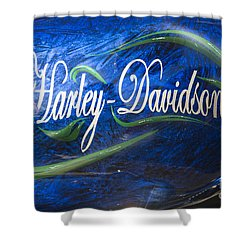 Harley Davidson 2 Shower Curtain by Wendy Wilton