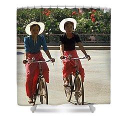 Xishuangbanna Cyclists Shower Curtain