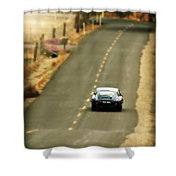 Xke Racing The Backroads Shower Curtain