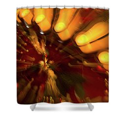 Shower Curtain featuring the photograph Xmas Burst 1 by Rebecca Cozart