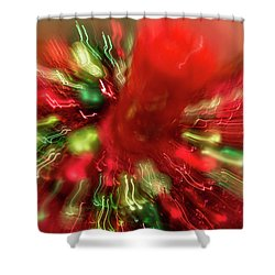 Shower Curtain featuring the photograph Xmas Burst 2 by Rebecca Cozart