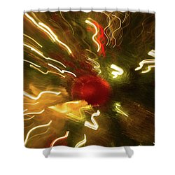 Shower Curtain featuring the photograph Xmas Burst 3 by Rebecca Cozart