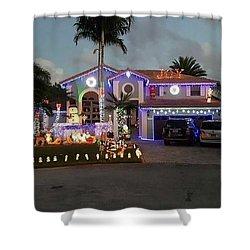 Xmas House Shower Curtain