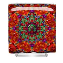Shower Curtain featuring the digital art Xmas by Robert Orinski