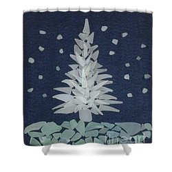 Shower Curtain featuring the painting Xmas Tree by Stan Tenney