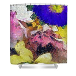 Xtreme Floral Sixteen Pink Power Shower Curtain
