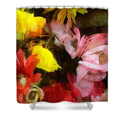 Xtreme Floral Nineteen Powerful In Pink Shower Curtain