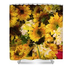 Hot Pink Hiding Xtreme Floral 21 Shower Curtain