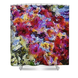 Xtreme Floral Five Cascade Shower Curtain by Spyder Webb