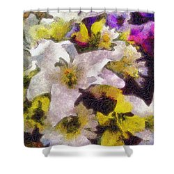 Xtreme Floral Six The White Star Shower Curtain