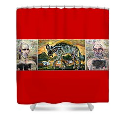 Xxxl Default Of Humanity Shower Curtain