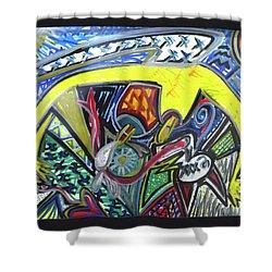 Xxxkull Patterns II Shower Curtain