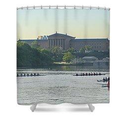Ya Gotta Regatta Shower Curtain by Bill Cannon