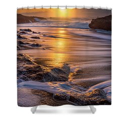 Shower Curtain featuring the photograph Yachats' Sun by Darren White