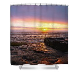Yachats Sunset Shower Curtain