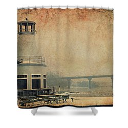 Shower Curtain featuring the photograph Yacht Club On The Fox by Joel Witmeyer