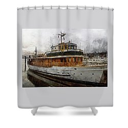 Yacht M V Discovery Shower Curtain