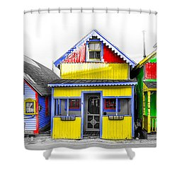 Shower Curtain featuring the photograph Yacht Street Cape May In Technicolor by Bill Cannon