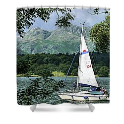 Yachting Lake Windermere Shower Curtain