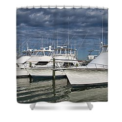 Yachts At The Dock Shower Curtain