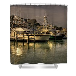 Yachts In Hdr Shower Curtain