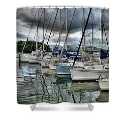 Yachts On Lake Windermere Shower Curtain