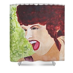 Shower Curtain featuring the painting Yah by Sandy McIntire