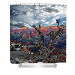Yaki Point Grand Canyon Shower Curtain by Anthony Dezenzio