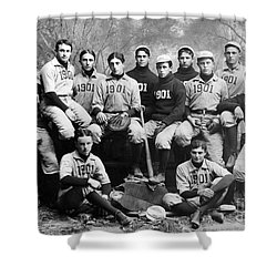Yale Baseball Team, 1901 Shower Curtain by Granger