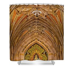 Shower Curtain featuring the photograph Yale University Alma Mater by Susan Candelario