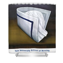 Shower Curtain featuring the painting Yale University School Of Nursing by Marlyn Boyd