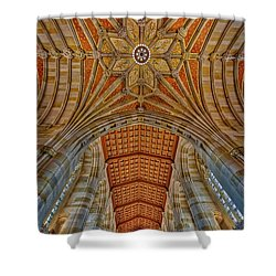 Shower Curtain featuring the photograph Yale University Sterling Library by Susan Candelario