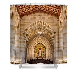Shower Curtain featuring the photograph Yale University Sterling Memorial Library by Susan Candelario