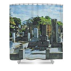 Yanaka Cemetery Shower Curtain
