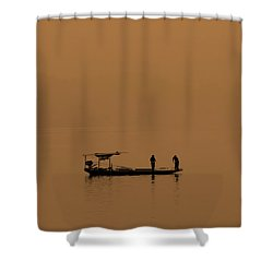 Yangtze Fishermen Shower Curtain