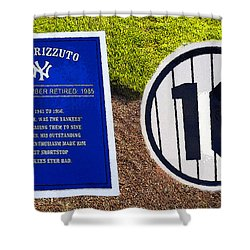 Yankee Legends Number 10 Shower Curtain by David Lee Thompson