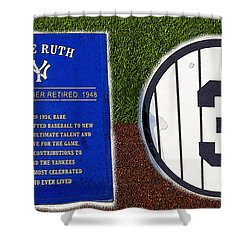 Yankee Legends Number 3 Shower Curtain by David Lee Thompson