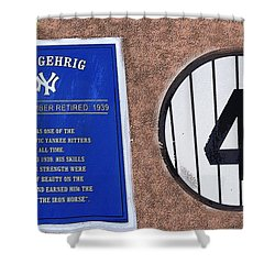 Yankee Legends Number 4 Shower Curtain by David Lee Thompson