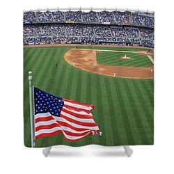 Yankee Stadium Flag Shower Curtain