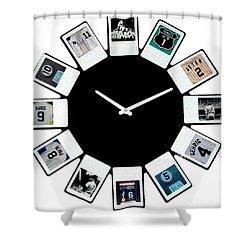 yankees Clock Shower Curtain by Paul Van Scott