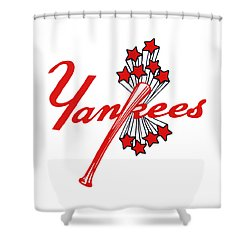Yankees Vintage Shower Curtain by Gina Dsgn